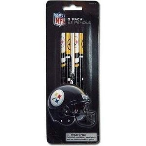 6x NFL Pittsburgh Steers 5-Pencil Party Favor Set